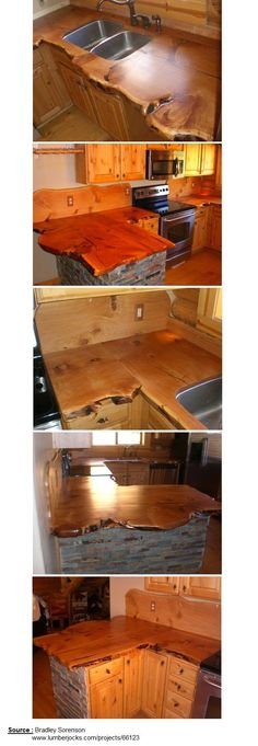 Rustic Kitchen Countertop | WoodworkerZ.com