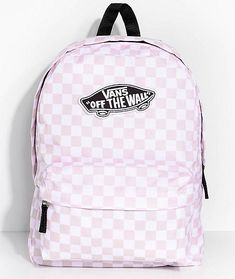 Vans Realm Pink Check 22L Backpack  fashionbackpacksbags 65f46397e3063