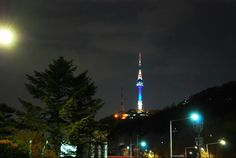 남산타워, Namsan Tower The great view of Namsan tower ! Finally I took this wonderful view. Night time of April. 2015. 남산타워 야경. #namsantower #seoul #korea