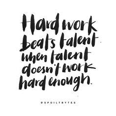 Hardwork beats talent – Actseed Co.