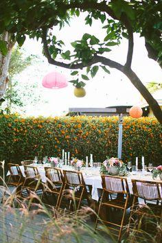 backyard dinner party | via: designlovefest
