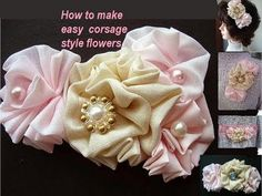 Quick and easy flower for your layout or cards #flower #tutorial #scrapbooking