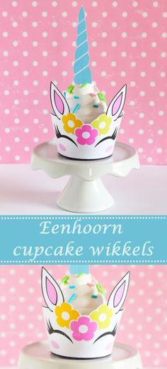 Eenhoorn traktatie cupcake