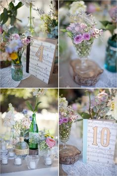 Music notes for table numbers