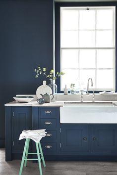 Dit zijn de meest tijdloze kleuren voor in je interieur- Hick's Blue van Little Greene
