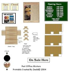 Post Office Mini Printables - Sherree - Picasa Web Albums