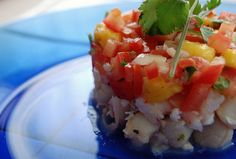 Easy Shrimp Ceviche Recipe I had a ceviche tower bigger then this I Costa Rica and it was soooo good!