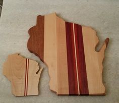 Wisconsin coasters and cutting board set