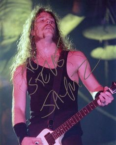 James Hetfield Signed Metallica Photo