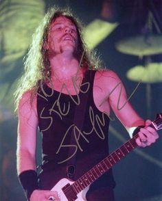 James Hetfield Signed Metallica Photo
