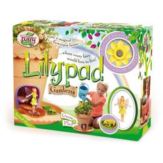 Interplay My Fairy Garden Lilypad Gardens Playset Fairy Garden Supplies, My Fairy Garden, Garden Playhouse, Garden Toys, Craft Kits For Kids, Crafts For Kids, Magical Home, Fairy Figurines, Miniature Fairy Gardens