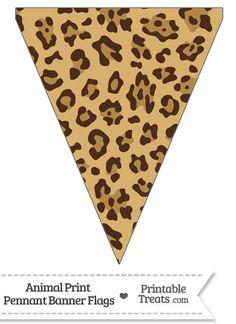 Jaguar Print Pennant Banner Flag from PrintableTreats.com
