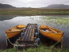 Moored Loch Awe, Assynt, Scotland    by transientlight #Scotland