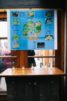 Mario World Seating Chart - video game themed SF wedding