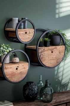 Study Room Design, Home Design Living Room, Diy Bedroom Decor, Diy Home Decor, Cosy Room, Metal Clock, Metal Wall Decor, Home Decor Furniture, Plant Decor