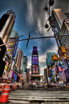 #NewYork #TimesSquare #HDR - photo by Ageel, published in Urban Cityscapes & Skylines
