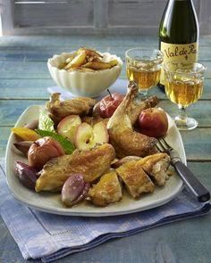 Französisches Cidre-Perlhuhn