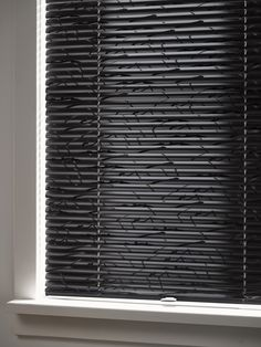 Luxaflex® Venetian Blinds. Create light control and privacy with this design classic. Monochrome texture and style. #Luxaflex #VenetianBlinds #Blinds #InteriorStyle