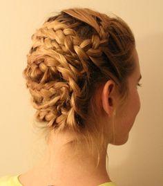 emma watson's braided updo tutorial