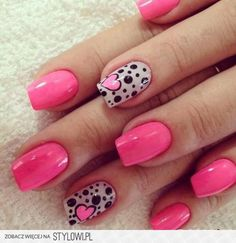heart nail art - 70 Heart Nail Designs I'd change the hot pink to red but love this design Cute Nail Art Designs, Nail Designs 2017, Heart Nail Designs, Pink Nail Designs, Nails Design, Awesome Designs, Pink Nail Art, Nail Art Diy, Diy Nails