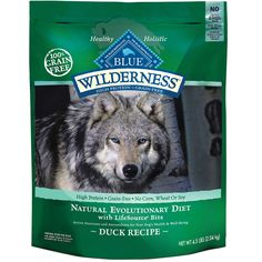 Blue+Buffalo+Wilderness+Duck+with+Sweet+Potatoes+Adult+Dry+Dog+Food+-+24+lbs.,+A+high-protein,+low+carbohydrate+food+that+contains+a+higher+concentration+of+the+delicious+duck+you+know+your+dog+will+love.+Inspired+by+the+diet+of+wolves,+true+omnivores+whose+endurance+is+legendary. - http://www.petco.com/shop/en/petcostore/product/blue-buffalo-wilderness-duck-with-sweet-potatoes-adult-dry-dog-food