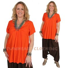 SunHeart Clothing goddess TANGERINE TIETOP  by SUNHEARTCLOTHING, $37.00