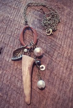 Check out this item in my Etsy shop https://www.etsy.com/listing/221752073/deer-antler-necklace-antler-jewelry