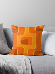 'Retro Pattern Throw Pillow by iopan Framed Prints, Canvas Prints, Art Prints, Floor Pillows, Throw Pillows, Retro Pattern, Design Products, Art Boards, Duvet Covers