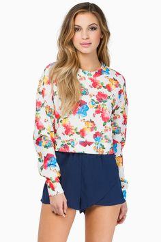 Tobi Flower Up Sweater