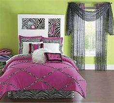 Zebra Print Bedroom Design Ideas, Photos And Teen Bedding