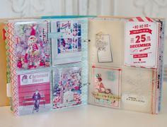 December Daily - Day 15 by MarieL at @Studio_Calico....vellum sequin pocket stitched with red, then insert into pocket