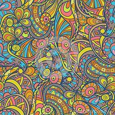 Psychedelic boho pattern