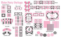 EloiseInspired Party Package by WhenIWasYourAge on Etsy, $30.00