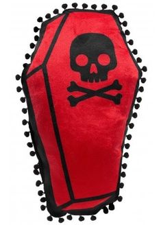 Sourpuss Coffin Shaped Pillow | Attitude Clothing