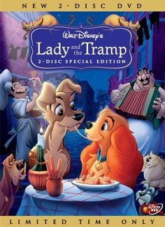 Lady and the Tramp/ Susi und Strolch, Animation, 1955 Old Movies, Great Movies, Love Movie, Movie Tv, Classic Disney Movies, Romantic Films, Childhood Movies, Movies Worth Watching, Lady And The Tramp