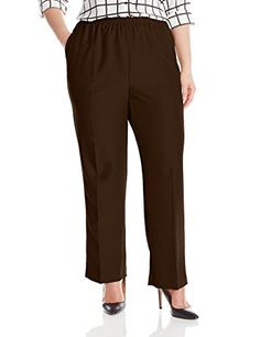 Alfred Dunner Women's Plus-Size Poly Proportioned Medium Pant -- You can get more details by clicking on the image.