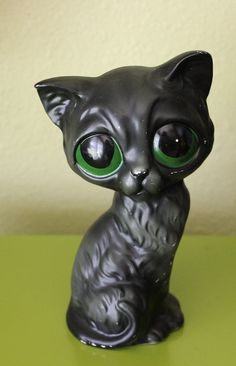 Vintage+Gig+Style+Big+Green+Eyed+Cat+Figurine+by+arctictimberwolf,+$14.00