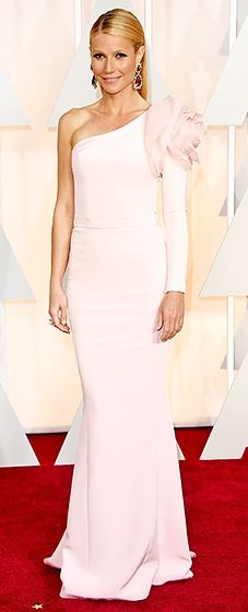 Pretty in pink! The Oscar winner had a moment via a Ralph and Russo gown with a giant flower on the shoulder.