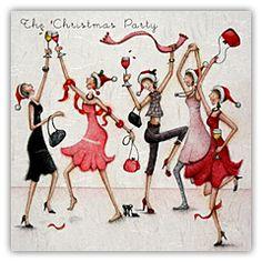 Christmas party Ladies Who Love Life. Christmas Pictures, Christmas Art, Christmas And New Year, Vintage Christmas, Christmas Illustration, Cute Illustration, Crazy Friends, Jolie Photo, Illustrations
