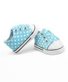 77b17510d Look at this Aqua Polka Dot Doll Sneaker on  zulily today!