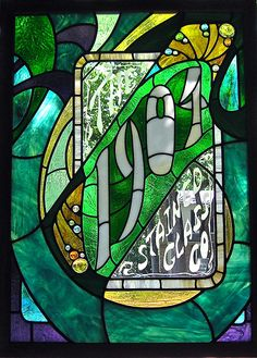 """The """"1904"""" Stained Glass Co.,  display sign"""