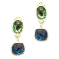 Ivy Clip-Ons Love this! Found it on Remarkable Jewelry. The Ivy clip-on earrings will make you the center of attention. These stunning drop earrings feature a peridot and sapphire stones. The Ivy will add elegance to a casual or fancy outfit and are sure to capture the light in any room.