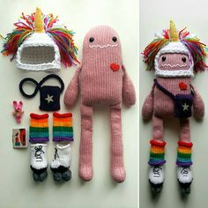 This Cheerful Knit Monster and His Zippy Doodads Will Have You Smiling For Days … Now With a Pattern! - This Cheerful Knit Monster and His Zippy Doodads Will Have You Smiling For Days … - Knitting Projects, Crochet Projects, Sewing Projects, Free Knitting, Knitting Patterns, Crochet Patterns, Vogue Knitting, Knitting Ideas, Knitting Needles