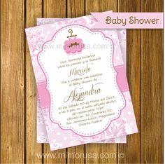 Invitacion Imprimible Baby Shower Bailarina