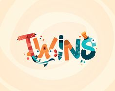 Twins | Lettering Design by Jonathan Ramírez.