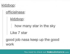 Good job nasa