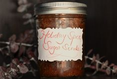 Holiday Spice Sugar Scrub -- perfect for gift-giving or just a fun way to unwind after a busy day!