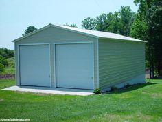 garaje metalice demontabile 6000x6000x2700 mm usi cu actionare manuala