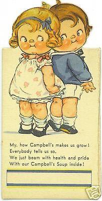 "Illustration by Grace Drayton Wiederseim .... Bridge Talley ""Campbell Soup"" Poem"