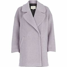 Light purple oversized wool coat £40.00